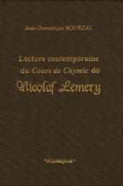 Lecture Contemporaine Du Cours De Chymie De Nicolas Lemery - Couverture - Format classique