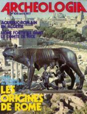 Archeologia n°105, avril 1977 - Couverture - Format classique