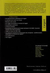 L'argent ; concours sciences po ; IEP 2011 tout le thème en fiches - 4ème de couverture - Format classique