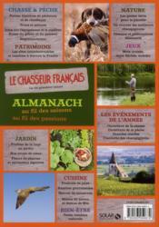Almanach du chasseur français au fil des saisons ; 2013 - 4ème de couverture - Format classique
