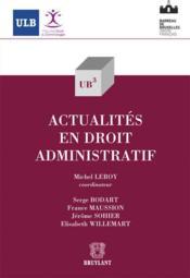 Actualités en droit administratif - Couverture - Format classique