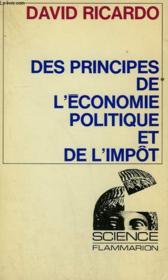 Des Principes De L'Economie Politique Et De L'Impot. Collection : Science. - Couverture - Format classique