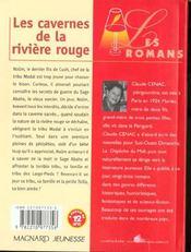 Les Cavernes De La Riviere Rouge - 4ème de couverture - Format classique