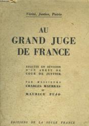 Au Grand Juge De France - Couverture - Format classique