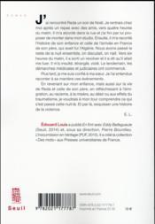 Histoire de la violence - 4ème de couverture - Format classique