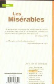 Les misérables ; extraits - 4ème de couverture - Format classique