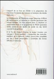 Anatomie qcm corriges - 4ème de couverture - Format classique