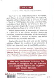 Les poches de l'Atlantique ; les batailles oubliées de la Libération. Janvier 1944-mai 1945 - 4ème de couverture - Format classique