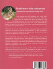 Des animaux au jardin biodynamique ; vers une pratique respectueuse de l'élevage familial - 4ème de couverture - Format classique