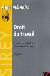 Droit Du Travail (18e Edition) - Intérieur - Format classique