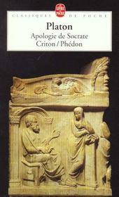 Apologie de socrate ; Criton ; Phédon - Intérieur - Format classique
