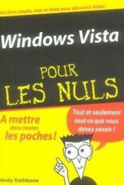 Windows vista pour les nuls - Couverture - Format classique