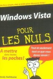 Windows vista pour les nuls - Intérieur - Format classique