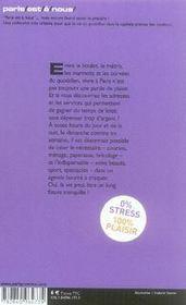 Sos parisiens débordés - 4ème de couverture - Format classique