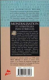 Mondialisation et strategies industrielles - 4ème de couverture - Format classique