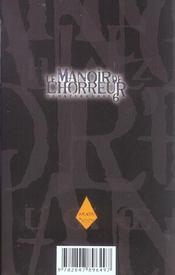 Le manoir de l'horreur t.6 - 4ème de couverture - Format classique