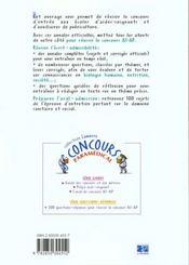 Concours as/ap 2000 - sujets officiels corriges - 4ème de couverture - Format classique