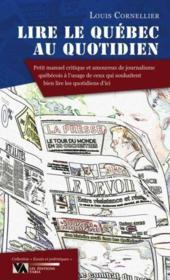 Lire Le Quebec Au Quotidien - Couverture - Format classique