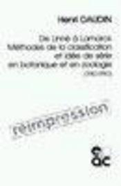 De linne a lamarck ; methodes de la classification et idee de serie en botanique et en zoologie ; 1740-1790 - Intérieur - Format classique