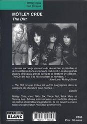 Mötley Crüe ; the dirt - 4ème de couverture - Format classique