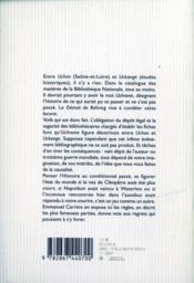 Le détroit de Behring ; introduction à l'uchronie - 4ème de couverture - Format classique