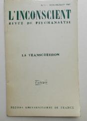 LA TRANSGRESSION. Le désir de savoir dans ses rapports à la transgression. - Couverture - Format classique