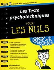 Les tests psychotechniques pour les nuls - Couverture - Format classique