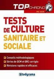 Mémo et tests sur les thèmes sanitaires et sociaux - Couverture - Format classique