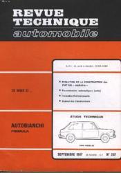 Revue Technique Automobile - N°257 - Couverture - Format classique