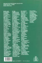 Procedures Collectives ; 1e Edition - 4ème de couverture - Format classique