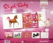 Je dessine mon cheval Royal Rubis - 4ème de couverture - Format classique