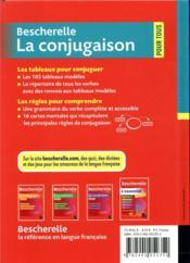Bescherelle ; la conjugaison pour tous - 4ème de couverture - Format classique