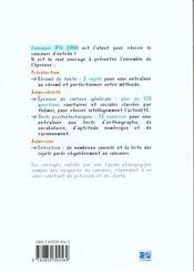 Concours ifsi 1999/2000 - sujets officiels corriges - 4ème de couverture - Format classique