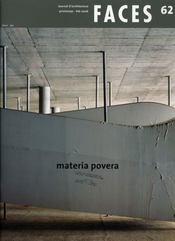 FACES T.62 ; materia povera - Intérieur - Format classique