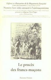 Le procès des francs-maçons - Intérieur - Format classique