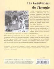 Les aventuriers de l'energie : les 100 plus belles histoires de l'electricite - 4ème de couverture - Format classique
