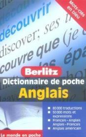 Anglais poche dictionnaire en francais - Couverture - Format classique