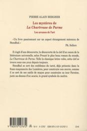 Les mystères de la Chartreuse de Parme ; les arcanes de l'art - 4ème de couverture - Format classique
