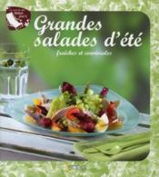 Grandes salades d'ete ; fraiches et conviviales - Couverture - Format classique