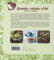 Grandes salades d'ete ; fraiches et conviviales - 4ème de couverture - Format classique