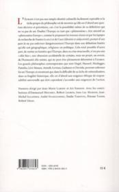 Cahiers De Philosophie N.47 ; Le Phénomène Europe - 4ème de couverture - Format classique