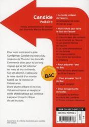 Candide, de Voltaire - 4ème de couverture - Format classique