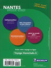 LE GUIDE VERT ; WEEK-END ; Nantes (édition 2012) - 4ème de couverture - Format classique