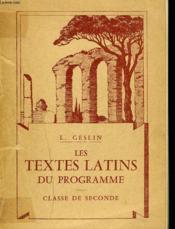 Les Textes Latins Du Programme. Classe De Seconde. - Couverture - Format classique