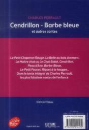 Cendrillon, Barbe Bleue et autres contes - 4ème de couverture - Format classique