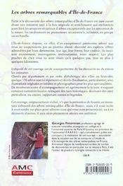 Les arbres remarquables d'ile-de-france - 4ème de couverture - Format classique