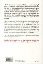 Serge Kampf ; le plus secret des grands patrons français - 4ème de couverture - Format classique
