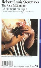 Le diamant du rajah ; the rajah's diamond - 4ème de couverture - Format classique