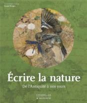Écrire la nature - Couverture - Format classique
