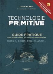 Technologie primitive - Couverture - Format classique